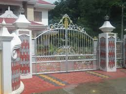 Kerala Gate Designs: Kerala Gate With Simple And Good Design ... Simple Modern Gate Designs For Homes Gallery And House Gates Ideas Main Teak Wood Panel Entrance Position Hot In Kerala Addition To Iron Including High Quality Wrought Designshouse Exterior Railing With Black Idea 100 Design Home Metal Fence Grill Sliding Free Door Front Elevation Decorating Entry Affordable Large Size Of Living Fence Diy Wooden Stunning Emejing Images Interior