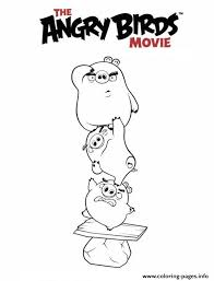 Angry Birds Movie 2016 Coloring Pages