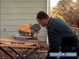 how to use a tile saw water use with the tile saw youtube