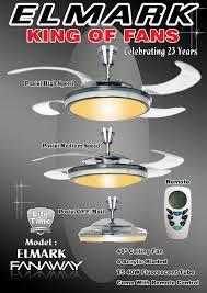 Retractable Blade Ceiling Fan With Light by Lighting Fan Sino Lighting Fanaway