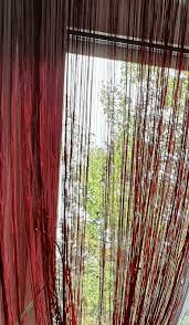 2 rote wohnzimmer gardinen 6 metern