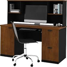 Staples Desk Corner Sleeve by Bestar Hampton Office Computer Desk With Hutch Tuscany Brown
