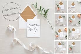 Wedding Invitation Mockups PSD Product Creative Market