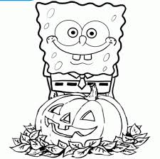 Spongebob Halloween Coloring Page AZ Pages