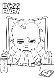 Click To See Printable Version Of Boss Baby Coloring Page