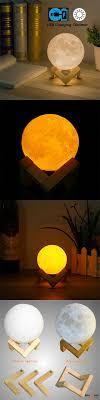 8cm touch sensor 3d moon l usb color changing led luna night