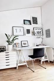 bureau blanc et comment meubler et décorer un bureau scandinave blanc et romantique