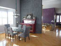 slate tile wall contemporary dining room chicago by