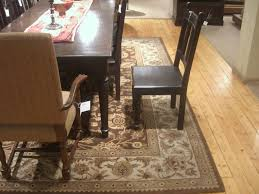 Angelic Carpet In Brown With Flowery Design Under Table For Dining Room Area Rugs