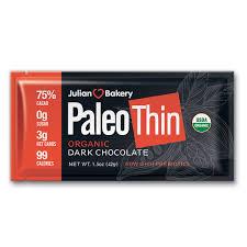 Amazoncom Paleo Thin Keto Dark Chocolate Bars USDA Organic 99