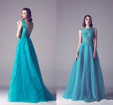 Designer Hunter Evening Dresses Runway Red Carpet Celebrity 2016 Sheer Lace A Line Long Women Dress Ball Gown Wear Prom Wedding Party Online With