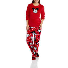 Mickey Mouse Bathroom Accessories Walmart by Disney Mickey Mouse Women U0027s And Women U0027s Plus 3 Piece Pj Set