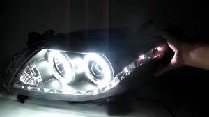 toyota corolla 4dr 2006 2009 ccfl eye projector headlight r8