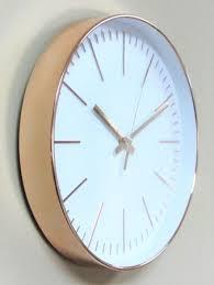 imc wanduhr gold rosé uhr büro küche wohnzimmer modern großes ziffernblatt weiß gut lesbar quartz xl