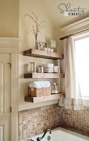 20 Fabulous DIY Ideas For Home Shelving Rustic ShelvesWooden Bathroom Floating