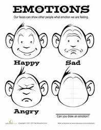 Feelings And Emotions Worksheet To Help Children Identify
