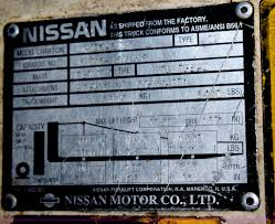 100 Nissan Lift Trucks Forklift Serial Number Decoder Netsofttxtsoft