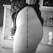 Beautiful Tattoos In Delicate Cursive Handwriting Is Becoming A Very Popular Trend