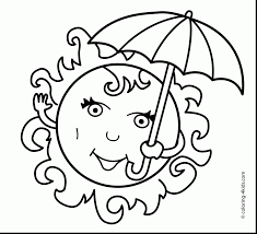 Marvelous Summer Sun Coloring Pages Printable With Page And 2016