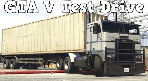 GTA V PC - Jobuilt Hauler Truck + Container Trailer Test Drive - YouTube