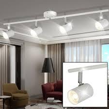 led decken leuchte wohnraum beleuchtung spot licht schiene le verstellbar searchlight 3174wh