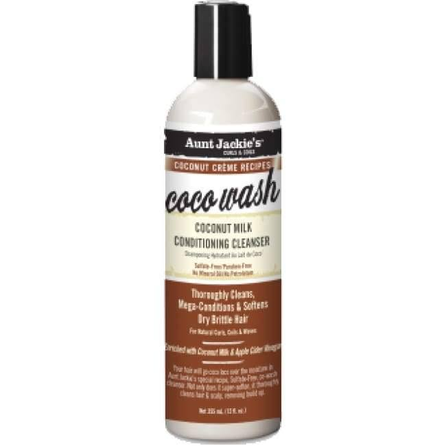 Aunt Jackie's Coco Wash Coconut Milk Conditioning Cleanser Shampoo - 355ml