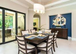 Dining Room Accent Walls Design Blue Wall Home Decor Ideas