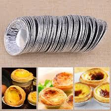 100x aluminiumfolie einweg foil kuchen plätzchen pudding