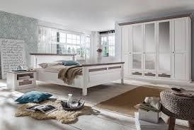 schlafzimmer landhausstil weiß lugano kiefer teilmassiv