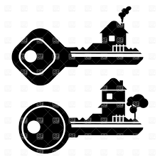 Key Silhouette With House Royalty Free Vector Clip Art