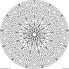 Geometric Pattern Coloring Pages For Adults Pics Design Printable Shapes Kindergarten Full Size