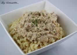recette de pate au thon pâtes sauce thon et fromage ail et fines herbes recettes a gogo