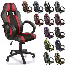 fauteuil de bureau ergonomique tresko chaise fauteuil siège de bureau racing sport é