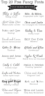 Top 20 Free Fancy Fonts For DIY Wedding InvitationsUpdated