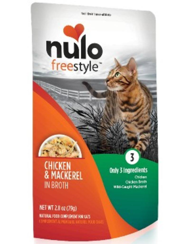 Nulo Freestyle Chicken & Mackerel in Broth Wet Cat Food, 2.8 oz