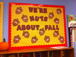 Thanksgiving Classroom Door Decorations Pinterest by Fall Bulletin Board Acorns Nuts About Fall Pre K And Elementary