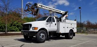 2000 '00 FORD F650 Telsta T36C CABLE PLACING BUCKET BOOM TRUCK REEL ...
