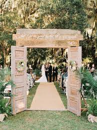 Love The Doors At Entrance Of Aisle To Create A Ceremony Space And Bridal Outdoor Rustic Wedding