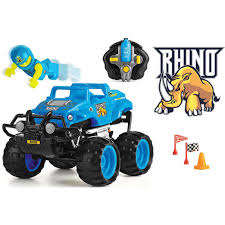 Monster Smash Ups Rhino Blue Toy Radio Remote Control RC Truck ...