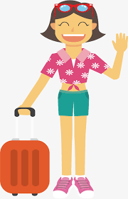 Flower Girl Vector Png Tourist Season Travel Free PNG And