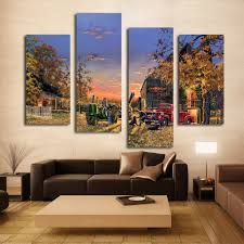 John Deere Bedroom Decor by Stretched 4pcs Happy Memory Picture John Deere Farm In Sunset