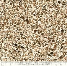A324m Brown Artificial Stone Flooring Tiles Quartz Slabs Terrazzo