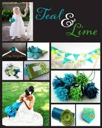 Teal Green And Yellow Wedding Colors