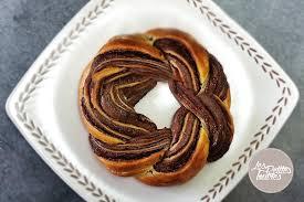 couronne de pâte feuilletée au nutella