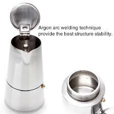 Stainless Steel 4 Cup Stovetop Espresso Maker A ESGREEN Enjoy Slow
