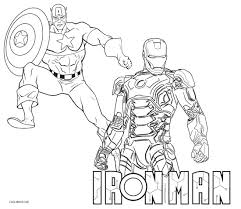 Printable Iron Man Colouring Pages Free Coloring Book Picture Rh Ecommercesuccess Info Civil War Captain America Vs Mask