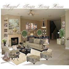 Taupe And Black Living Room Ideas by Angyal Taupe Living Room Polyvore