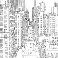 Fantastic Cities Free Book Coloring Pages