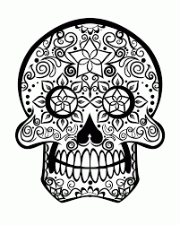 Handy Day Of The Dead Sugar Skull Coloring Page Free Printable