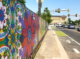 Philly Mural Arts Tour by How Philly U0027s Spring Garden Bridge Mural Bloomed Into Thousands